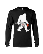 Bigfoot Disc Golf Cryptid Sasquatch Disc Go Long Sleeve Tee thumbnail