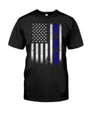 Best Dad Ever American Flag Police T- Classic T-Shirt thumbnail