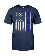 Best Dad Ever American Flag Police T- Classic T-Shirt front