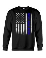 Best Dad Ever American Flag Police T- Crewneck Sweatshirt thumbnail