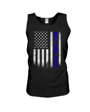 Best Dad Ever American Flag Police T- Unisex Tank thumbnail