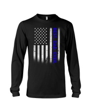 Best Dad Ever American Flag Police T- Long Sleeve Tee thumbnail