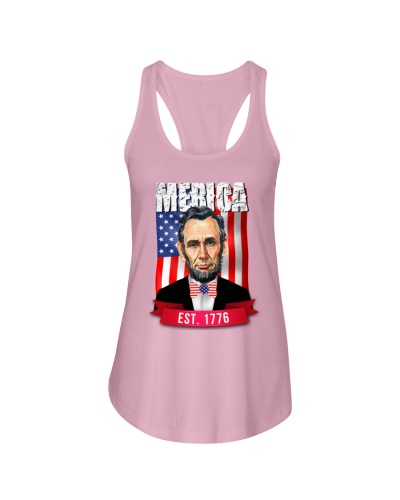 Merica Abe Lincoln T-Shirt 4th of July American