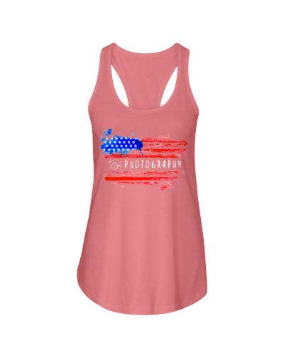 Photography Shirt USA American Flag Photographer