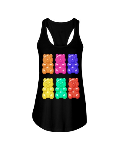 Cute Colorful Spring Gummy Bear T-Shirt For Women