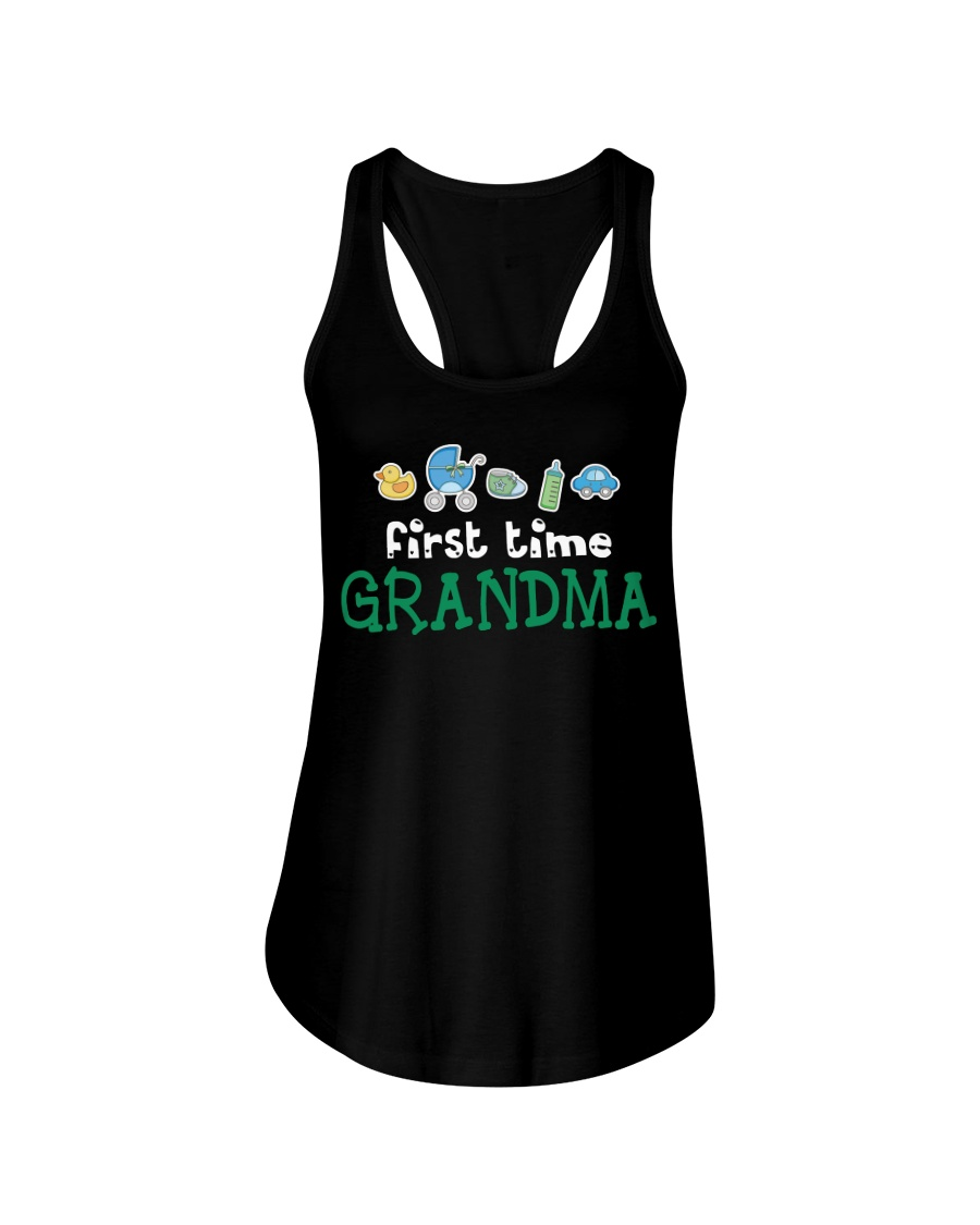 First Time Grandma T Shirt Mother Day Gift Tee Ladies Flowy Tank