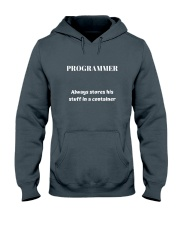Programmer stores stuff in a container Hooded Sweatshirt front