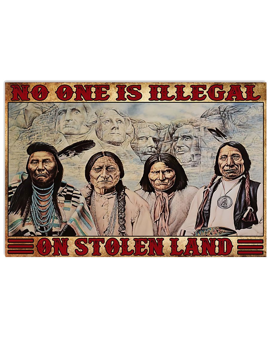 No one is illegal 17x11 Poster