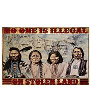 No one is illegal 17x11 Poster front