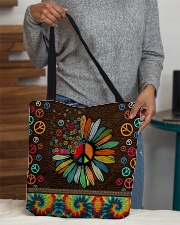 Hippie soul leather pattern print All-over Tote aos-all-over-tote-lifestyle-front-10