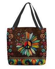 Hippie soul leather pattern print All-over Tote back