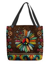 Hippie soul leather pattern print All-over Tote front