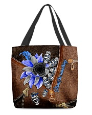 Stand for something Leather Pattern Print  All-over Tote back