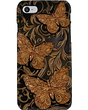 Butterfly Faux wood print Phone Case i-phone-7-case