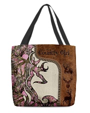 Country Girl Leather Pattern Print All-over Tote back