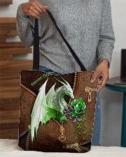 Never Give Up Leather Pattern Print  All-over Tote aos-all-over-tote-lifestyle-front-10