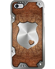 Police badge Metal pattern print Phone Case i-phone-8-case