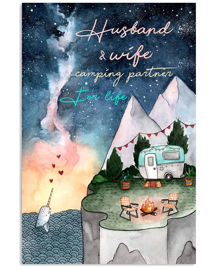 Husband and wife camping partner for life 11x17 Poster