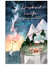 Husband and wife camping partner for life 11x17 Poster front