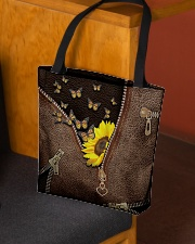 Sunflower and butterfly All-over Tote aos-all-over-tote-lifestyle-front-02