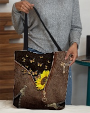 Sunflower and butterfly All-over Tote aos-all-over-tote-lifestyle-front-10
