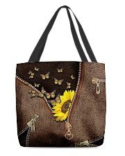 Sunflower and butterfly All-over Tote back