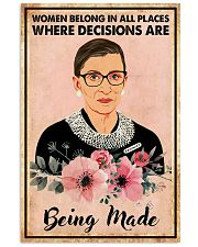 WomEn belong in all places 11x17 Poster front