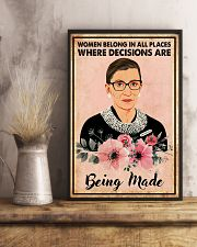 WomEn belong in all places 11x17 Poster lifestyle-poster-3