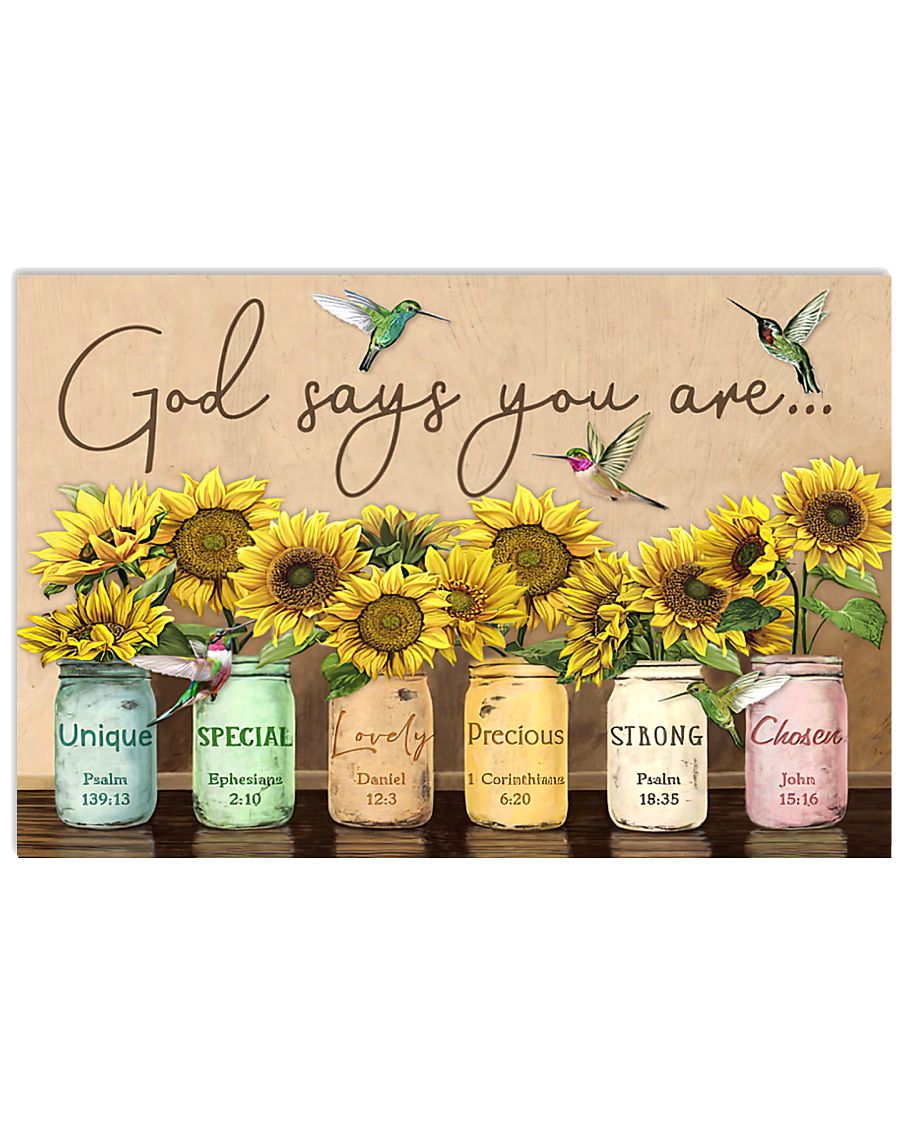 God says you are 17x11 Poster