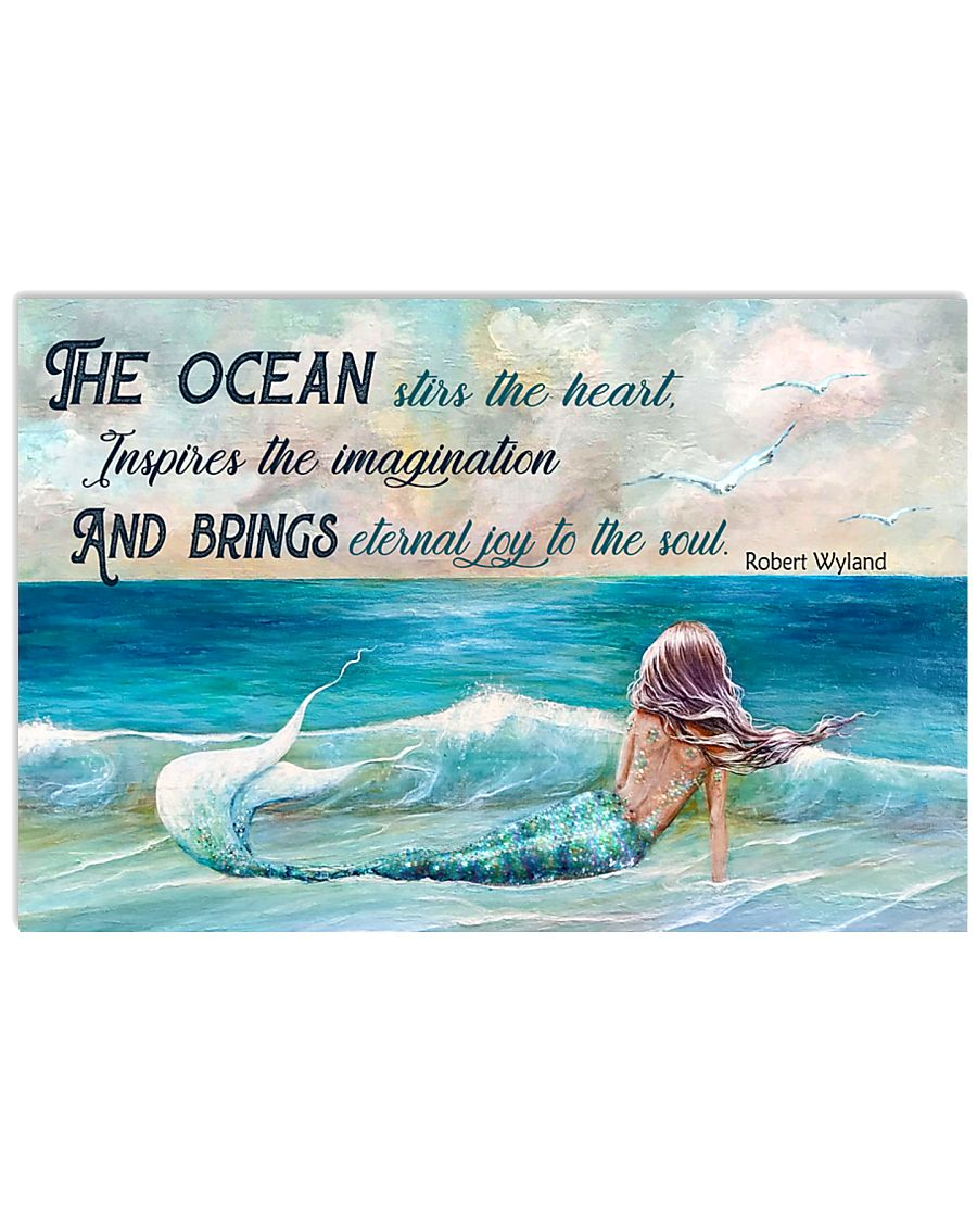 The ocean stirs the heart 17x11 Poster