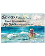 The ocean stirs the heart 17x11 Poster front