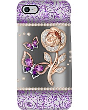 Rose butterfly Phone Case i-phone-8-case