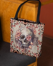Floral skull All-over Tote aos-all-over-tote-lifestyle-front-02