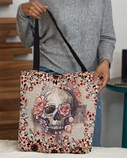 Floral skull All-over Tote aos-all-over-tote-lifestyle-front-10
