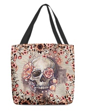 Floral skull All-over Tote back