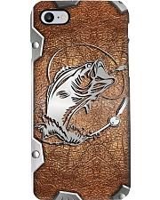 Love Fishing Metal Pattern Print Phone Case i-phone-8-case