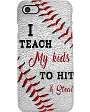 I teach my kids to hit and steal Phone Case i-phone-8-case