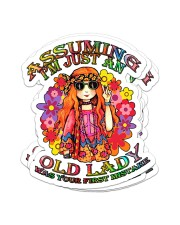 Assuming I'm just an old lady Sticker - 4 pack (Vertical) front