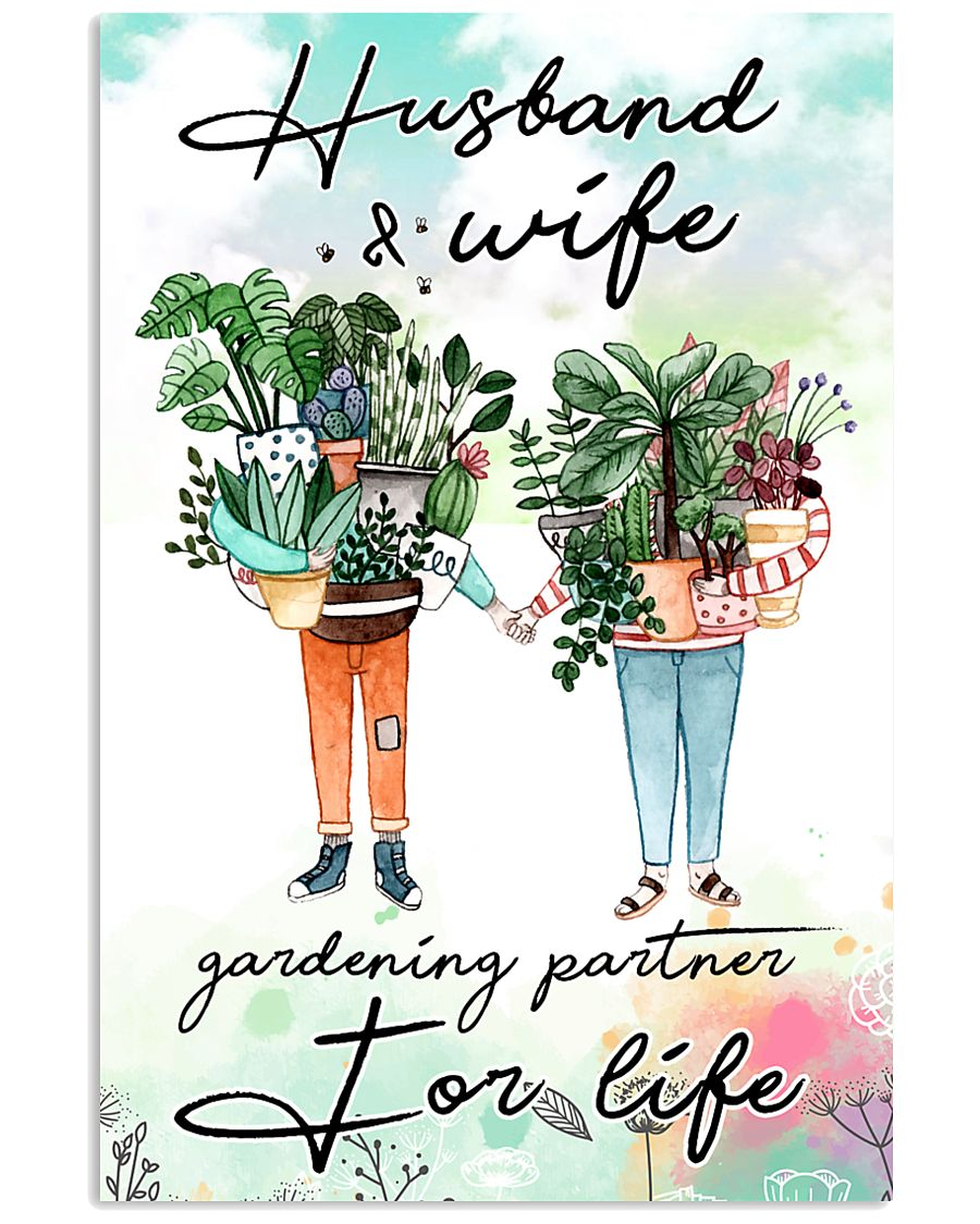 Husband and wife gardening partner for life 11x17 Poster
