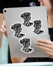 Obstinate head strong girl  Sticker - 4 pack (Vertical) aos-sticker-4-pack-vertical-lifestyle-front-11