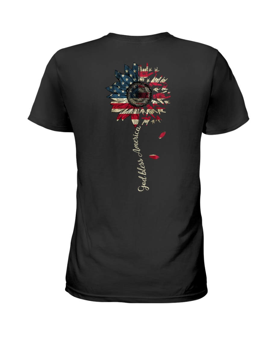 God bless America Independence day Ladies T-Shirt