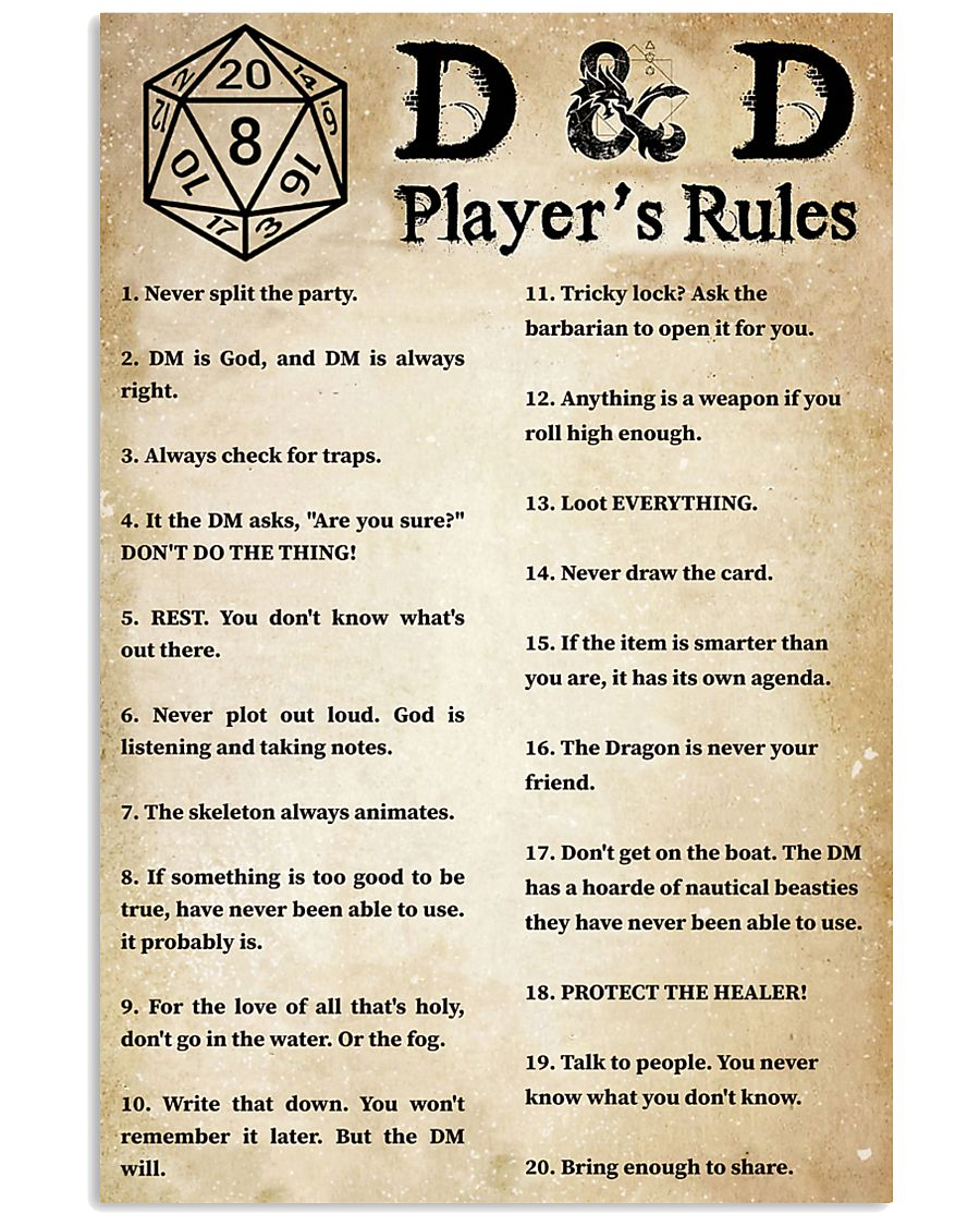 Rules of the game 11x17 Poster