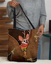 Merry Christmas Leather Pattern Print All-over Tote aos-all-over-tote-lifestyle-front-10