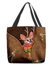 Merry Christmas Leather Pattern Print All-over Tote back