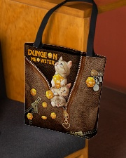 Dungeon Meowster Leather Pattern Print All-over Tote aos-all-over-tote-lifestyle-front-02