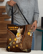 Dungeon Meowster Leather Pattern Print All-over Tote aos-all-over-tote-lifestyle-front-10