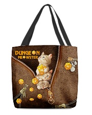 Dungeon Meowster Leather Pattern Print All-over Tote back
