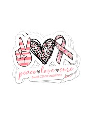 Peace love cure Sticker - 4 pack (Vertical) front
