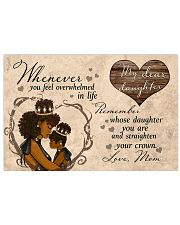 My Dear Daughter Mother's Day 17x11 Poster front