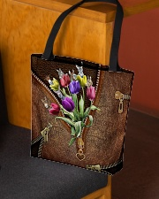 Tulips and donkey All-over Tote aos-all-over-tote-lifestyle-front-02